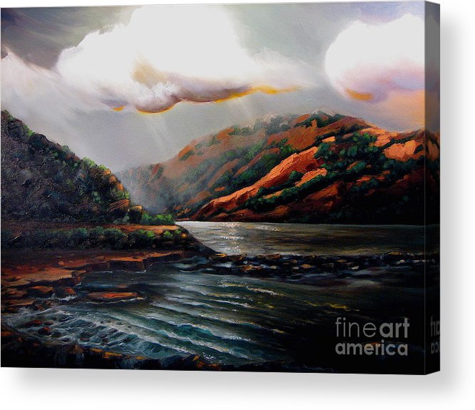 Landscape Acrylic Print featuring the painting Scotland by Patricia Reed