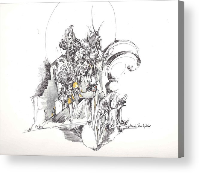 Forms Acrylic Print featuring the drawing Sculpted Forms by Padamvir Singh