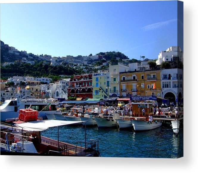 Capri Acrylic Print featuring the photograph Seaport Of Capri Italy by Mindy Newman