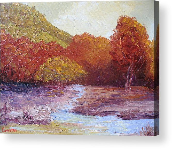 Landscape Acrylic Print featuring the painting Season Change by Belinda Consten