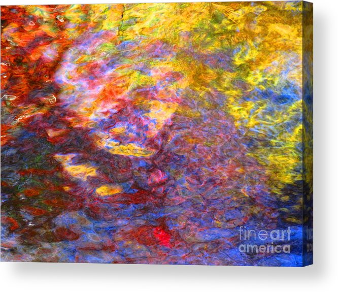 Abstract Acrylic Print featuring the photograph Coming Together by Sybil Staples