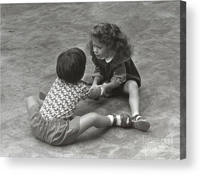 Washington Square Park Acrylic Print featuring the photograph Shake by Andrea Simon
