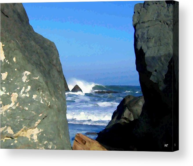 Seascape Acrylic Print featuring the photograph Sheltered From The Wind by Will Borden