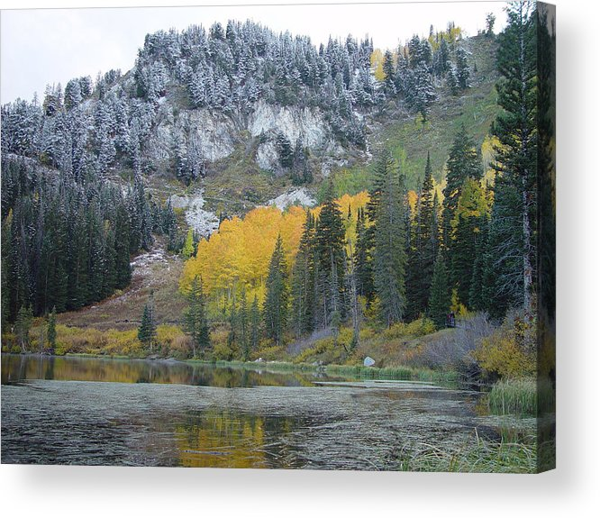 Silver Acrylic Print featuring the photograph Silver Lake Dusted by Derek Nielsen