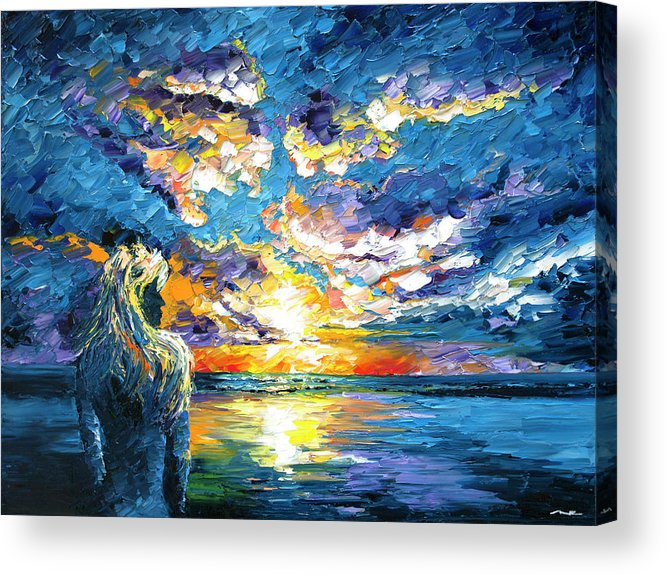 Sunset Acrylic Print featuring the painting Siren's Dream by Nelson Ruger