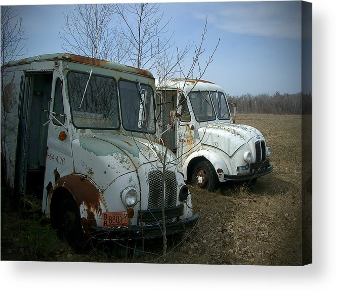Trucks Acrylic Print featuring the photograph Sisters by Tim Nyberg