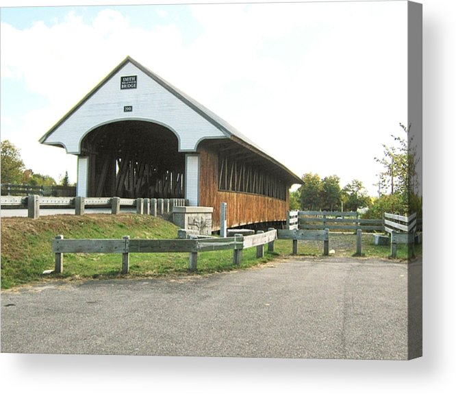 Nh Acrylic Print featuring the photograph Smith Millennium Covered Bridge by Wayne Toutaint