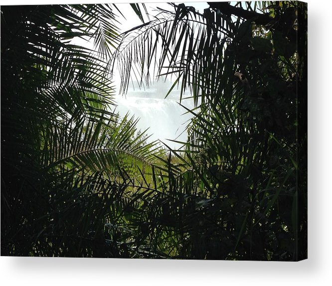 Victoria Falls Acrylic Print featuring the photograph Sneak Peak by Alexandria Berry