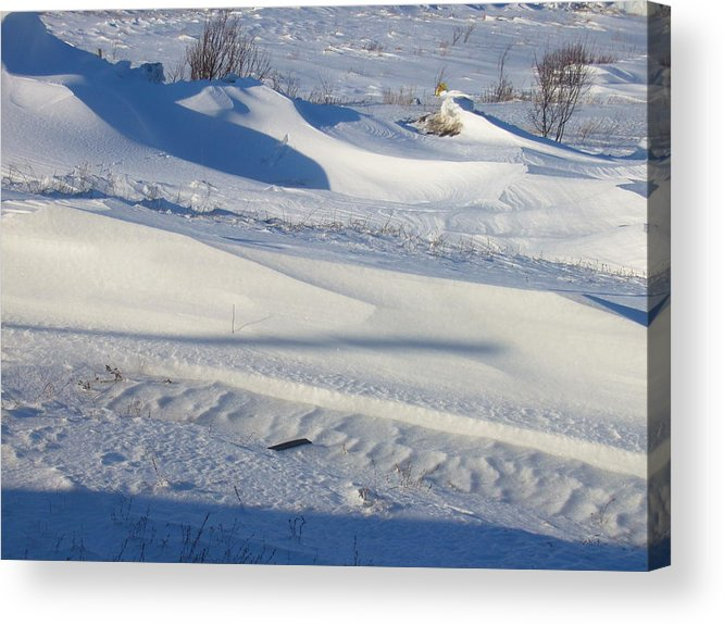 Winter Acrylic Print featuring the photograph Snow Drift by Sharon Stacey