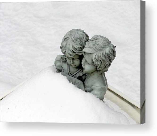 Love Acrylic Print featuring the photograph Snow Love by John Toxey
