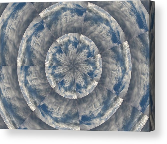 Clouds Acrylic Print featuring the photograph Snowflake Clouds by Judy Ford
