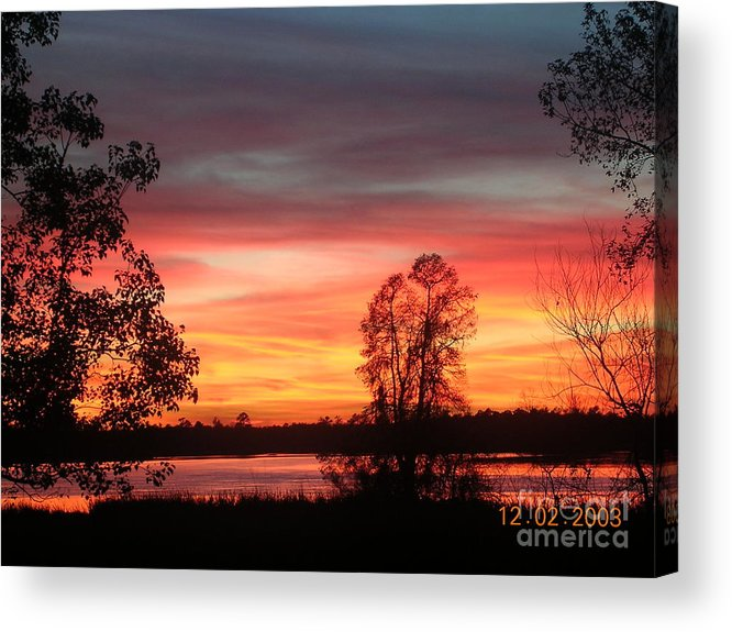 Sunset Acrylic Print featuring the photograph So Red by Lee Ann Wunderler