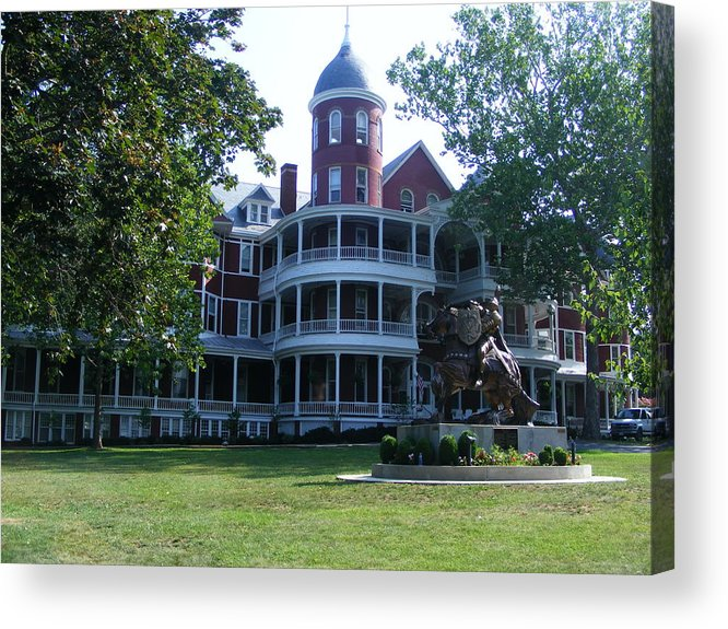 Buena Vista Acrylic Print featuring the photograph Southern Virgiinia College by Eddie Armstrong
