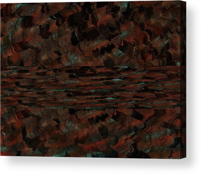 Orange Acrylic Print featuring the digital art Southwest Accent by Michelle Lee