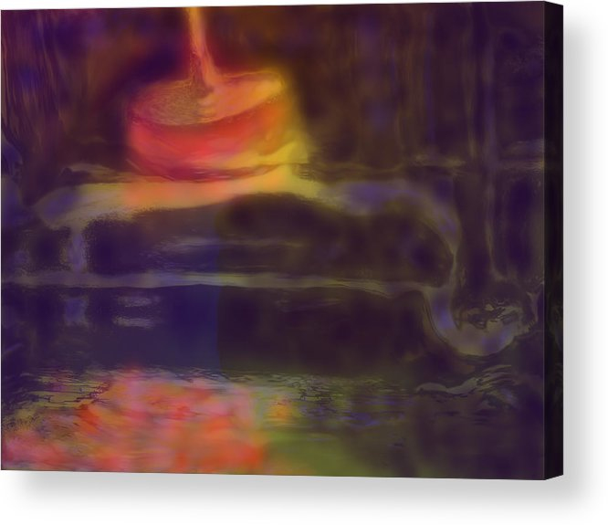 Abstract Acrylic Print featuring the digital art Spinning Light by Ian MacDonald