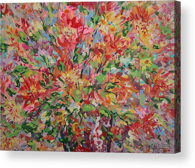 Painting Acrylic Print featuring the painting Splendor. by Leonard Holland