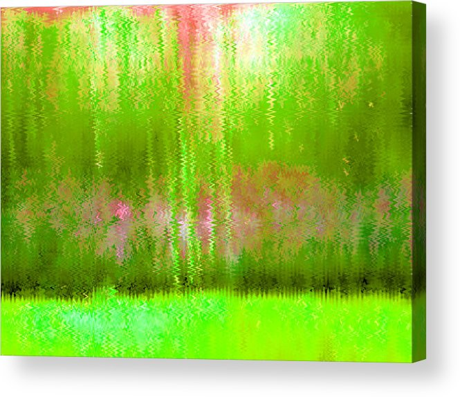 Pink Acrylic Print featuring the painting Spring Light by Vicky Brago-Mitchell