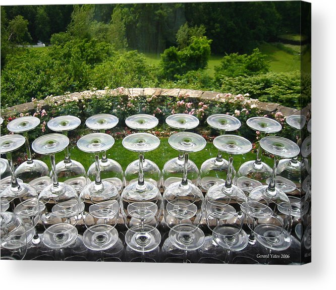 Wine Acrylic Print featuring the photograph Stemware by Gerard Yates