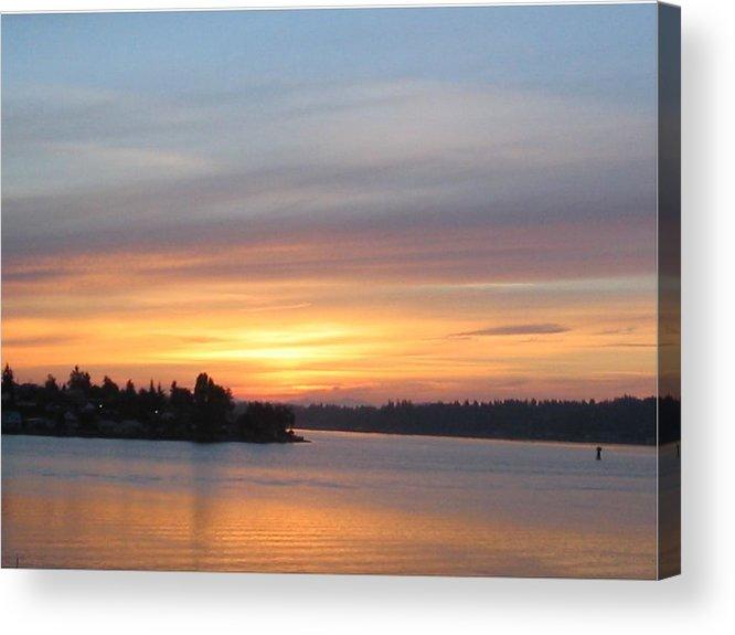 Sunrise Acrylic Print featuring the photograph Still Morning Sunrise by Valerie Josi