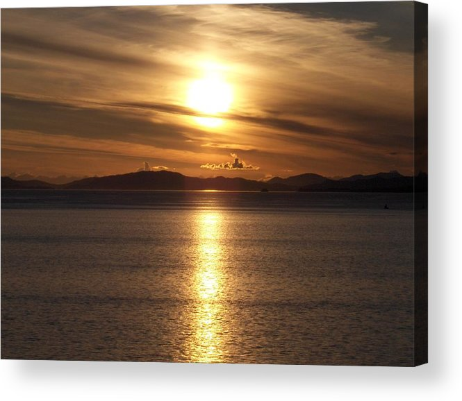 Seascape Acrylic Print featuring the photograph Still Night In Alaska by Janet Hall