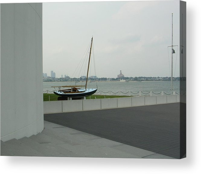Sailboat Acrylic Print featuring the photograph Stilled Voyage by Nancy Ferrier