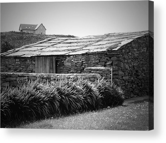 Irish Acrylic Print featuring the photograph Stone Structure Doolin Ireland by Teresa Mucha