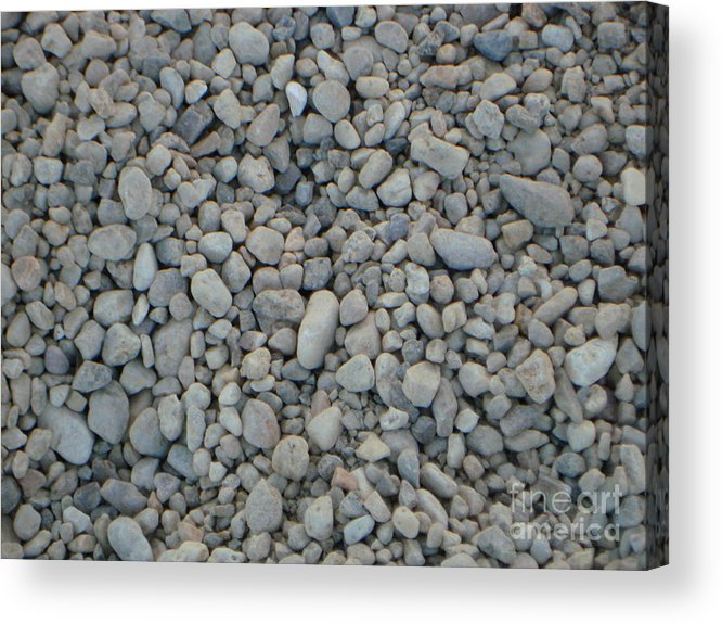 Pebbles Acrylic Print featuring the photograph Stones Texture by PJ Cloud