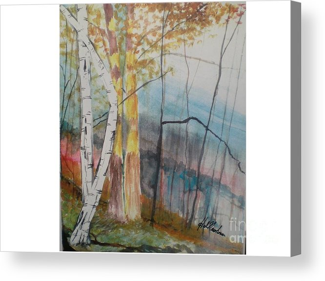 Birch Trees Acrylic Print featuring the painting Stoney Brooke Park by Hal Newhouser