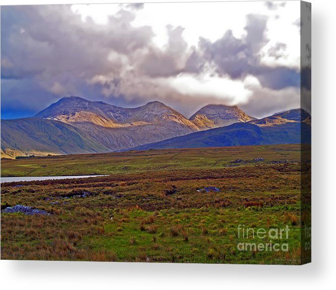 Fine Art Photography Acrylic Print featuring the photograph Storm Clouds Ahead In Connemara by Patricia Griffin Brett