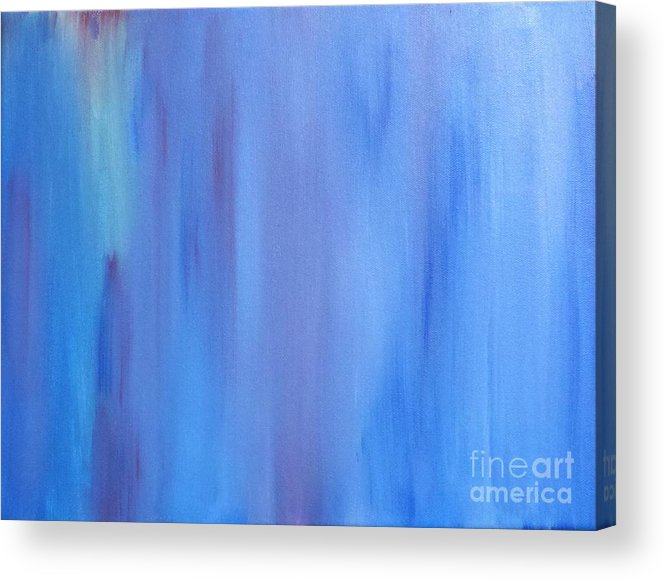 Abstract Acrylic Print featuring the painting Stormy Weather by Tracy Evans