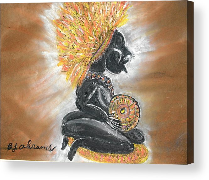 Ethnic Acrylic Print featuring the painting Story Teller by BJ Abrams