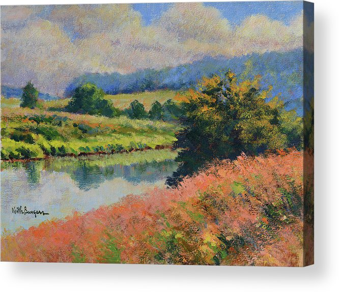 Impressionism Acrylic Print featuring the painting Summer Day by Keith Burgess
