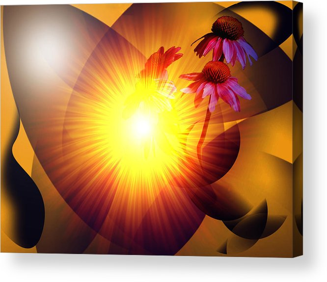 Solstice Acrylic Print featuring the digital art Summer Solstice II by Patricia Motley