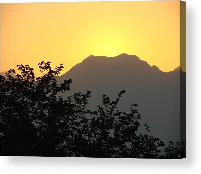 Sunset Acrylic Print featuring the photograph Summer Sunset by Liz Vernand