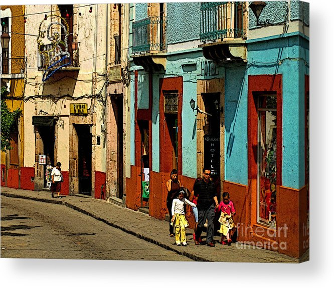 Darian Day Acrylic Print featuring the photograph Sunday Morning Stroll by Mexicolors Art Photography