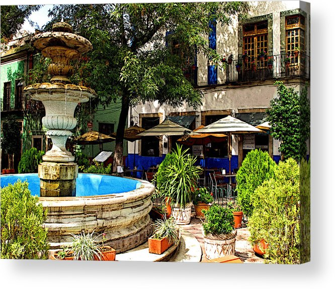 Darian Day Acrylic Print featuring the photograph Sundrenched Plaza 3 by Mexicolors Art Photography