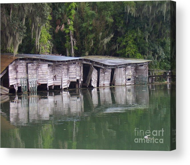 Nature Acrylic Print featuring the photograph Sunken by Stephanie Richards