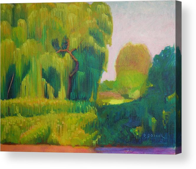 Landscape Acrylic Print featuring the painting Sunny Day Indian Boundary Park by David Dozier