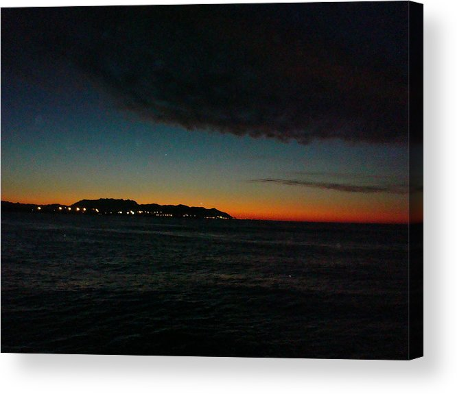 Sunrise Acrylic Print featuring the photograph Sunrise From The Boat by Liz Vernand