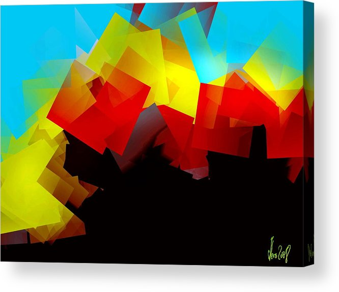 Sunrise Acrylic Print featuring the digital art Sunrise by Helmut Rottler