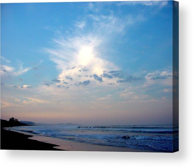 Sunrise Acrylic Print featuring the photograph Sunrise In Costa Rica by PJ Cloud