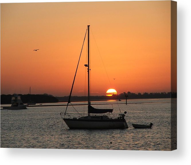 Landscape Acrylic Print featuring the photograph Sunrise On The Bay by Judy Waller