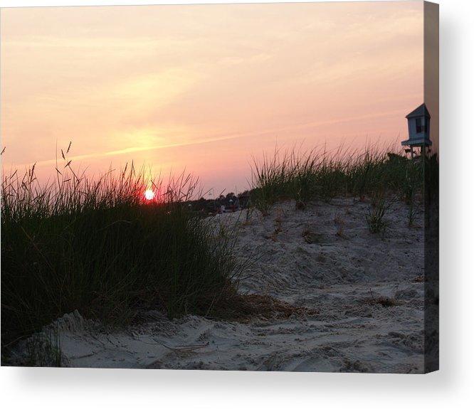 Dewey Beach Acrylic Print featuring the photograph Sunset Dewey Beach by Kevin Callahan