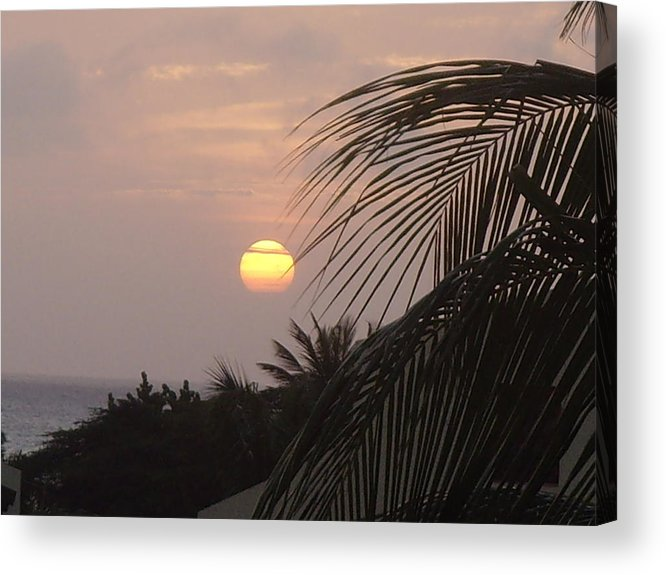 Sunset Acrylic Print featuring the photograph Sunset In Aruba by Donna Davis