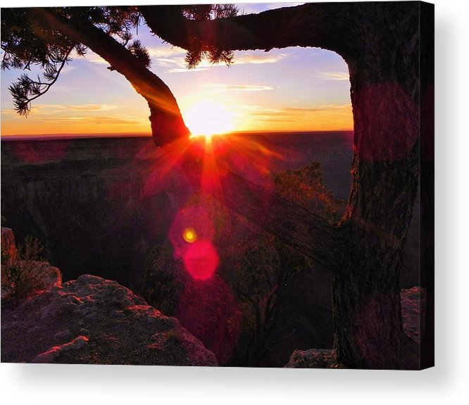 Sunset Acrylic Print featuring the photograph Sunset by Mika Rust