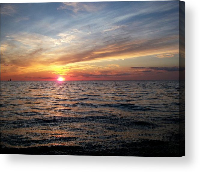 Inspiration Acrylic Print featuring the photograph Sunset On Lake Erie by Patricia R Moore