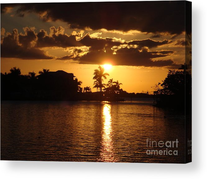 Sunset Acrylic Print featuring the photograph Sunset On The Bay by Robyn Leakey