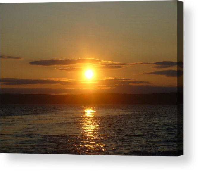 Landscape Acrylic Print featuring the photograph Sunset On The Horizon 6 by Sharon Stacey