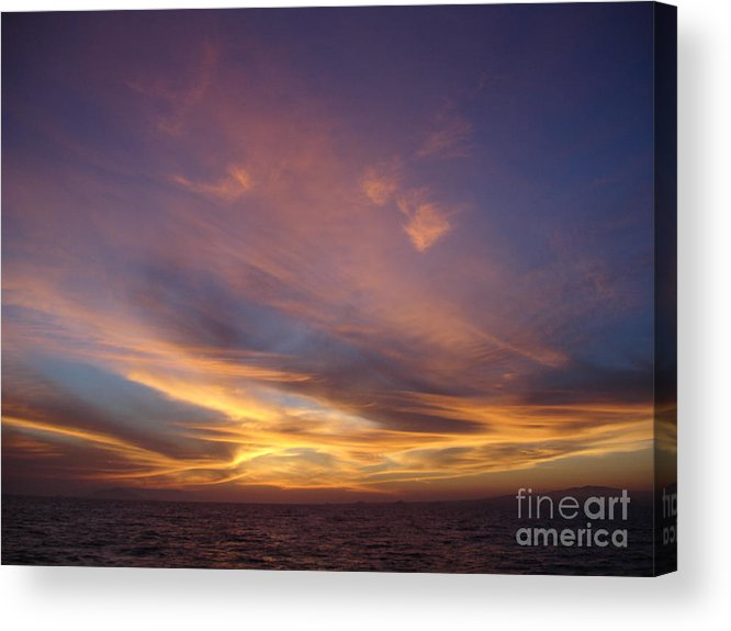 Sunset Acrylic Print featuring the photograph Sunset Over Island by Chad Natti