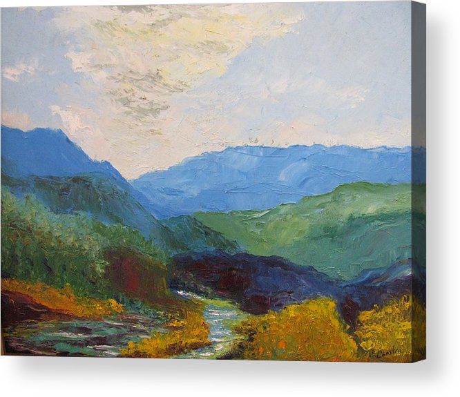 Landscape Acrylic Print featuring the painting Susquahanna by Belinda Consten